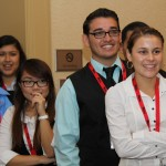 group of STEM students smiling